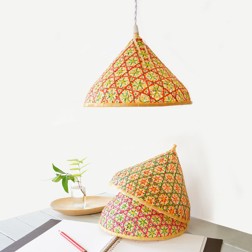 Bamboo Colored Lampshade N-1