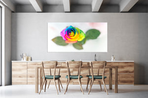 "PRW-011  ""Rainbow Rose"" BLOOM COLLECTIE  Foto Print"