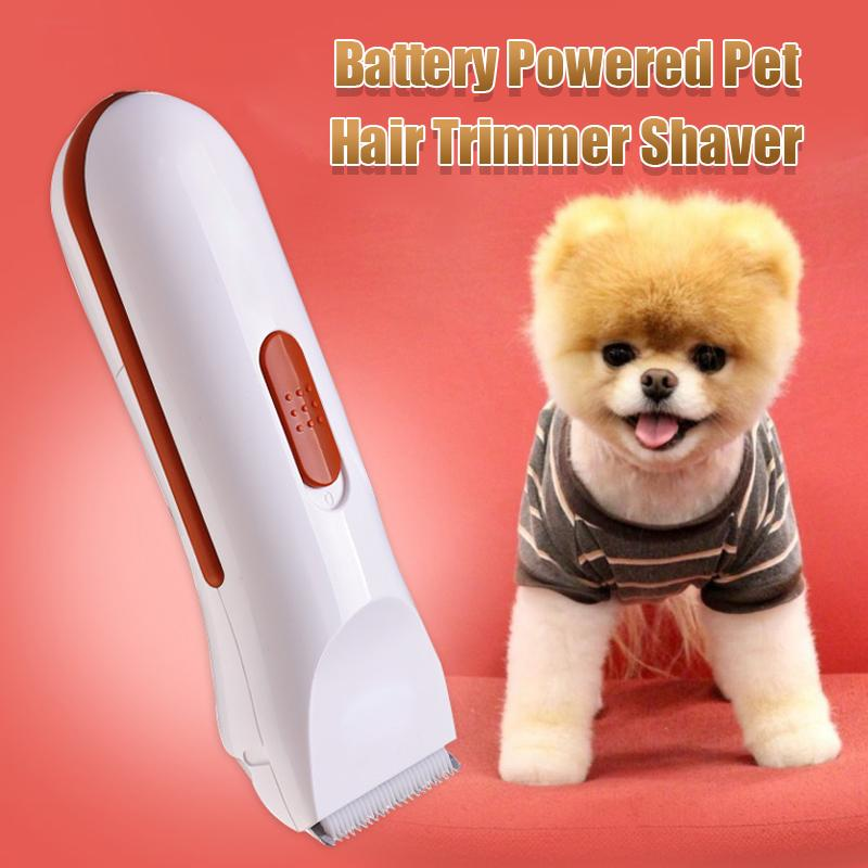 Battery Powered Pet Hair Trimmer Shaver