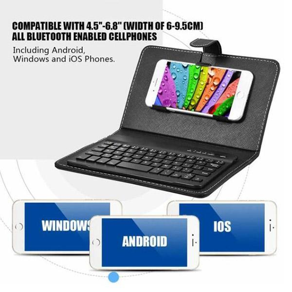 Detachable Wireless Bluetooth Keyboard Kit