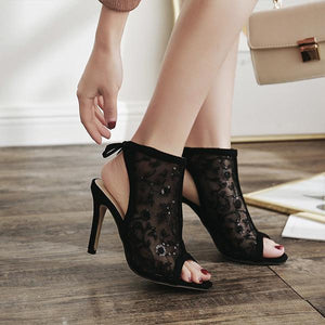 Fashion Lace High Heel Sandals