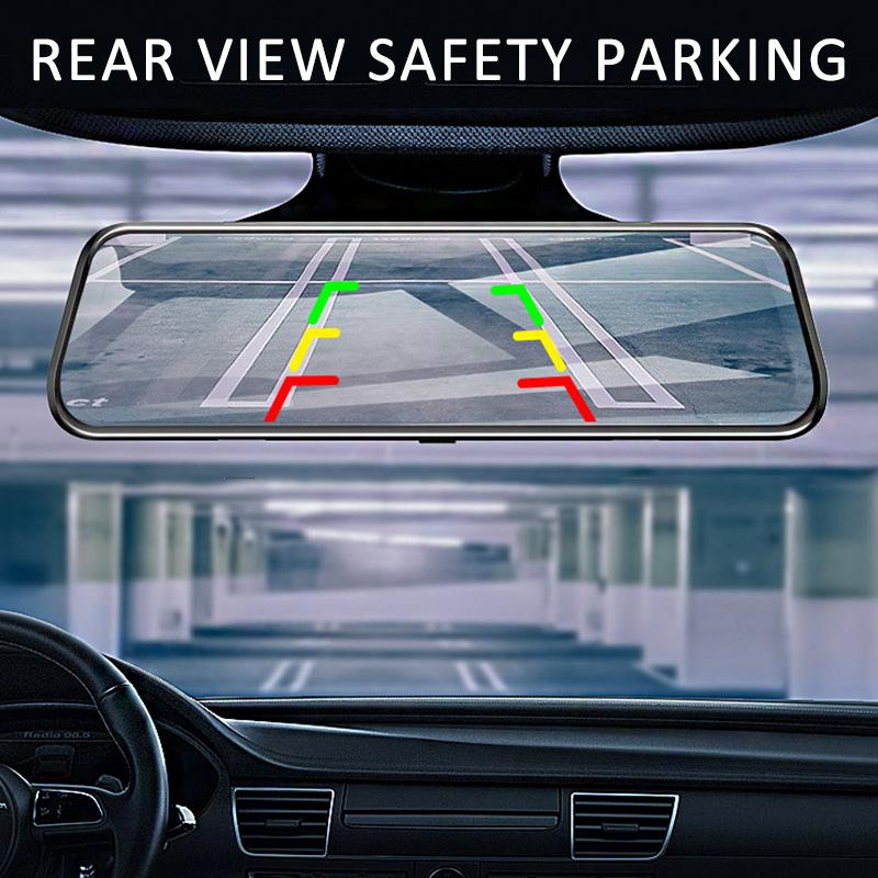 Latest Full-Screen LCD Rearview Mirror, Front And Rear Car Recorder