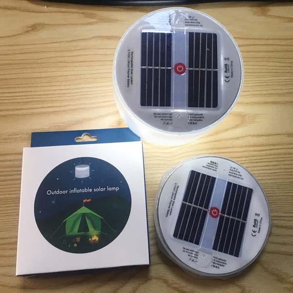 Solar energy PVC inflatable lamp