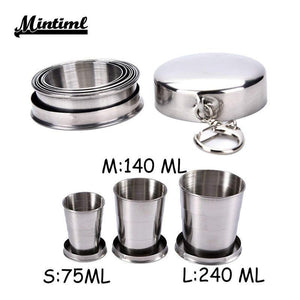 Stainless Steel Folding Cup(1 Set)