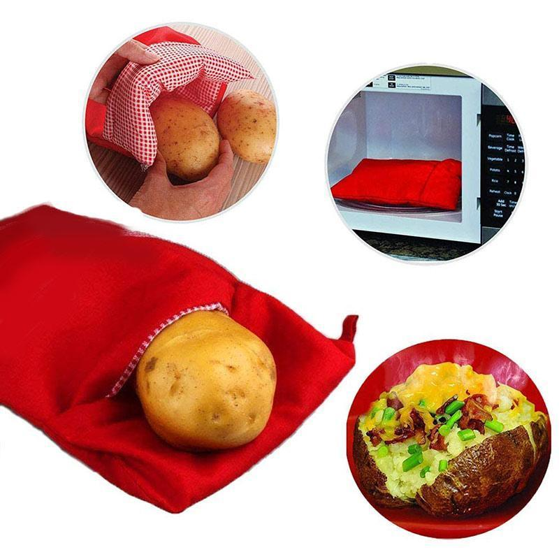 Microwave Baked Potato - Microwave Potato Cooker Bag, 3pcs