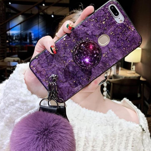 Hair Ball Airbag Bracket phone Case
