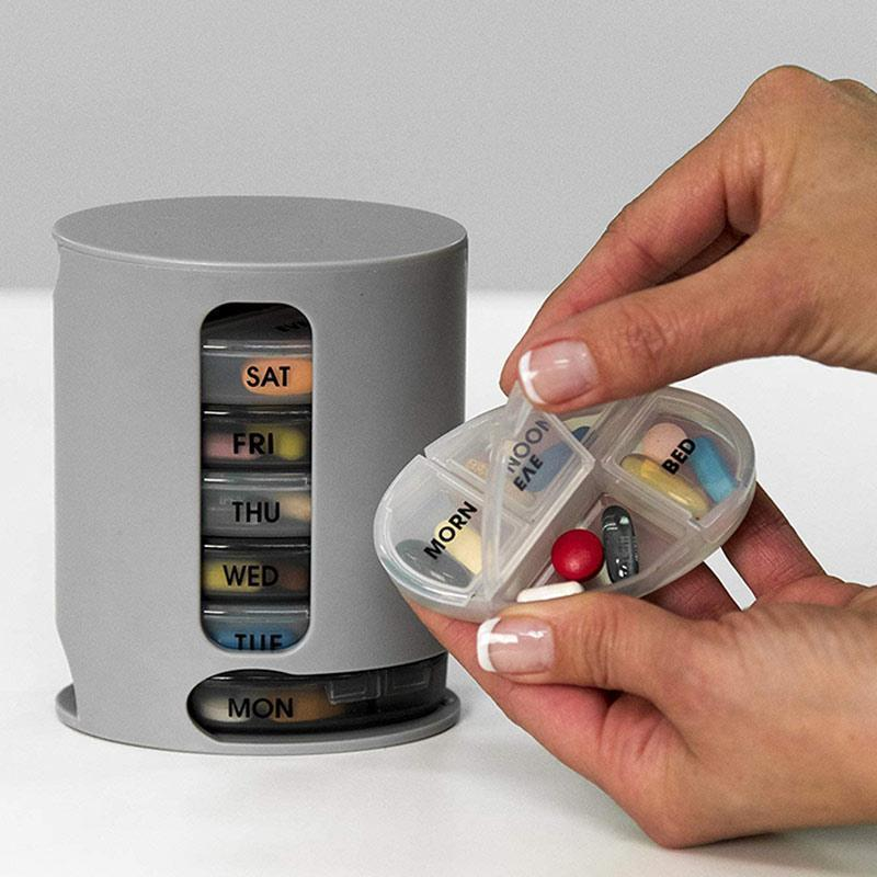 Weekly Pill Organizer Dispenser