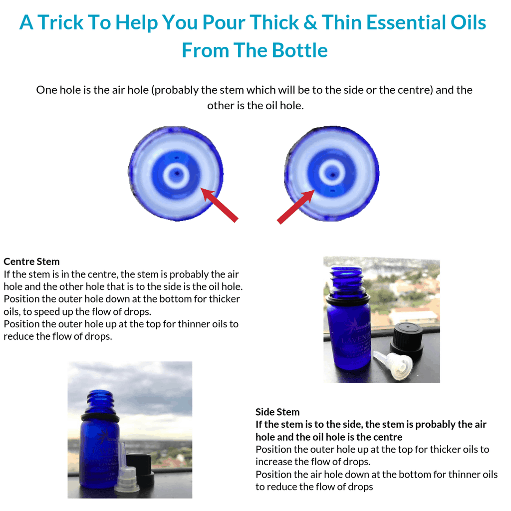 how to pour thick and thin essential oils from the bottle