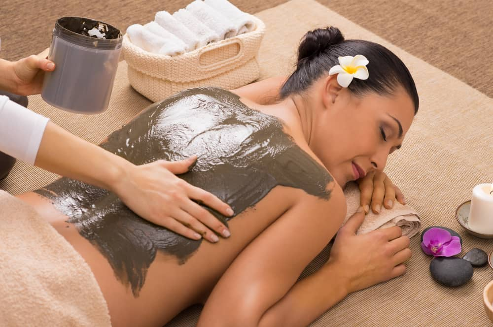 Thalassotherapy mud treatment at spa