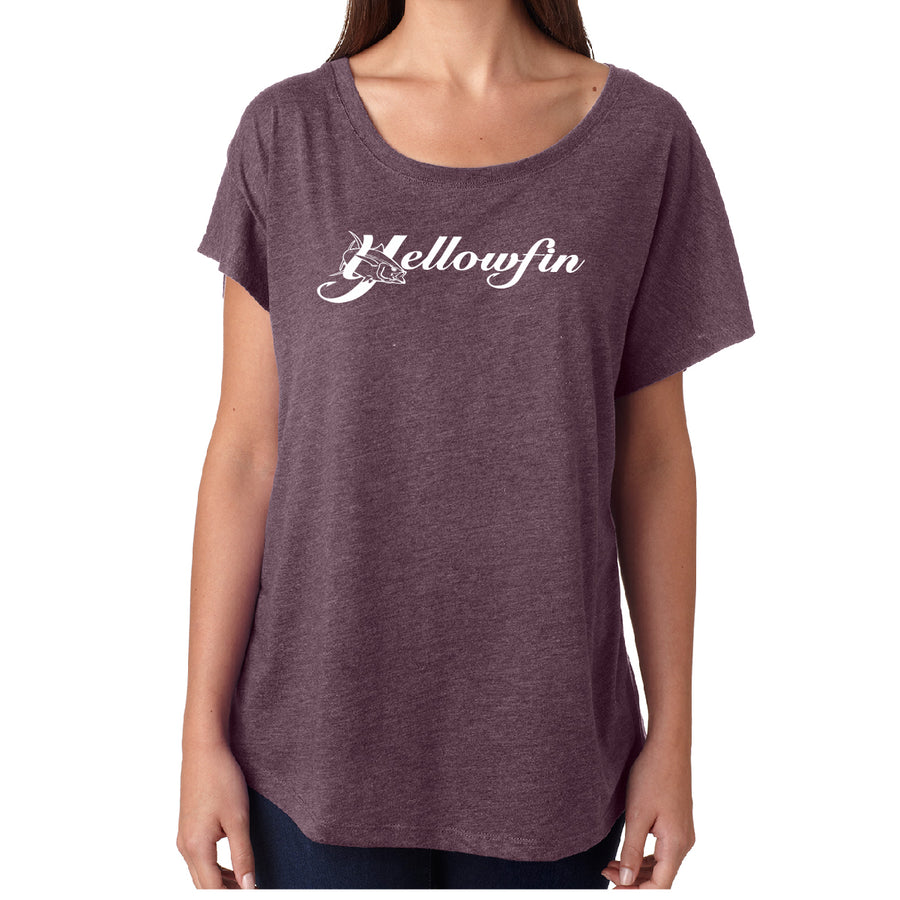 Yellowfin Logo Tri-Blend Dolman Shirt