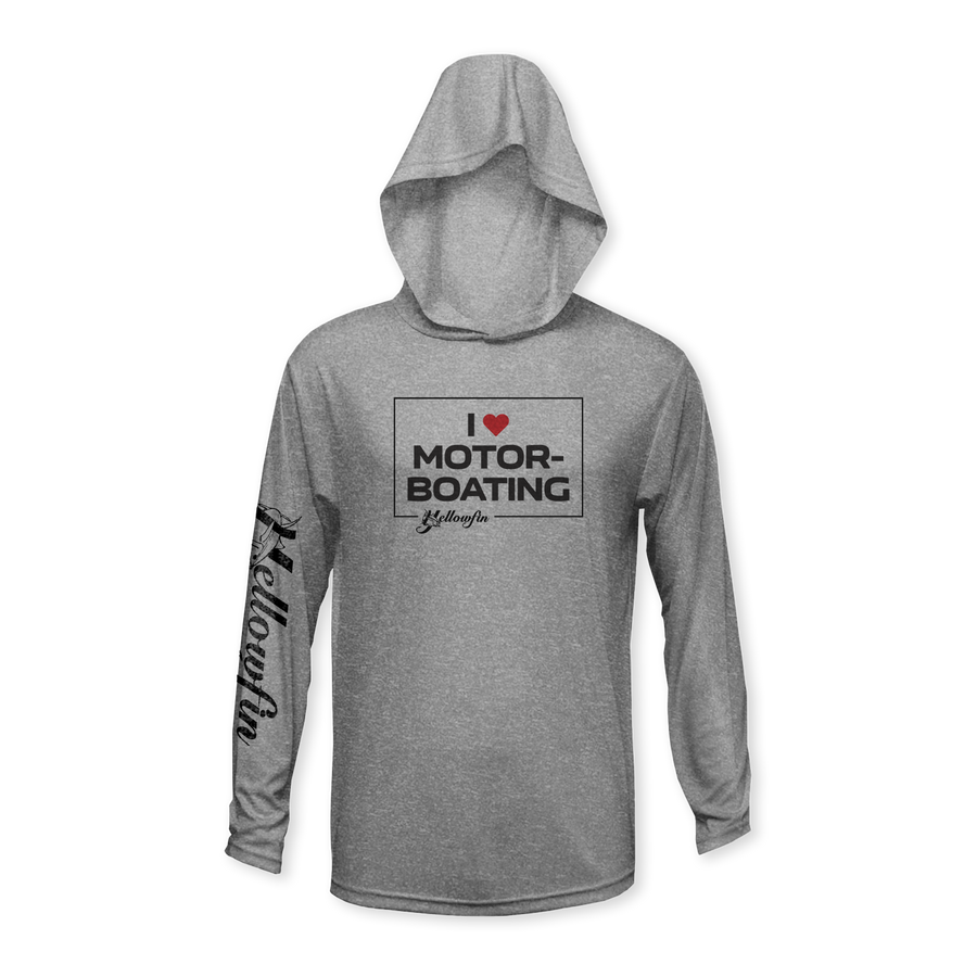 """I Love Motor-Boating"" Performance Youth Hoodie"