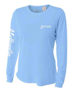 Yellowfin Logo Long Sleeve Performance Shirt