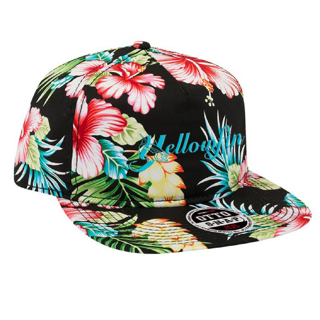 Yellowfin Logo Tropical OTTO Snapback Hat
