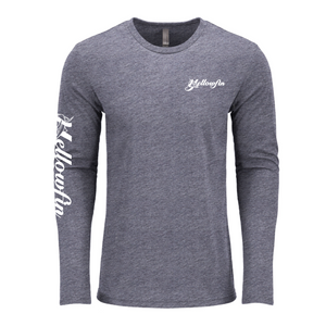Yellowfin Logo Sleeve Tri-Blend Crew