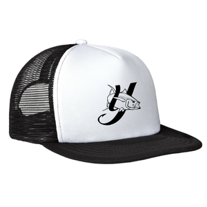 Y LOGO Flat Bill Snapback Hat - White