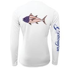 Load image into Gallery viewer, Women's Tuna Flag Performance Long Sleeve Shirt