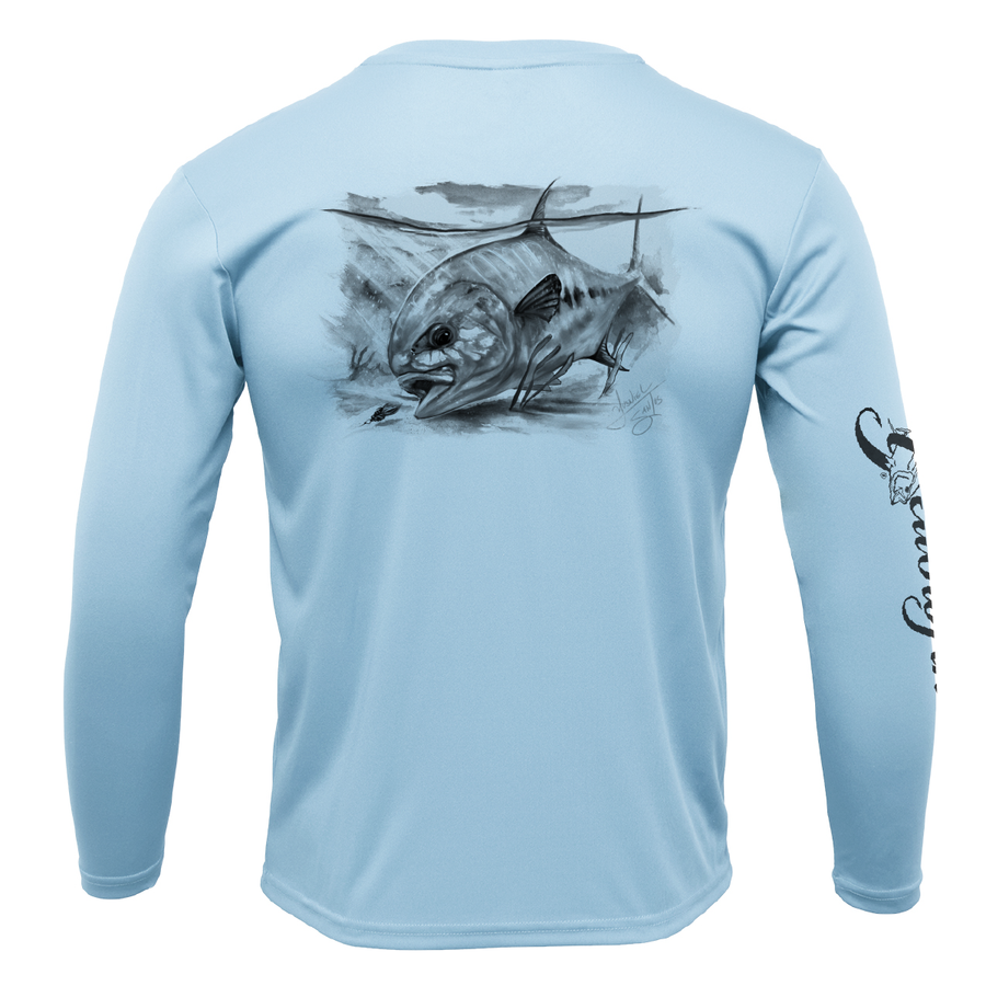Permit in Black Performance Long Sleeve Shirt