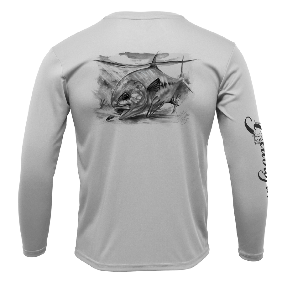 Performance Youth Long Sleeve Shirt - Permit in Black