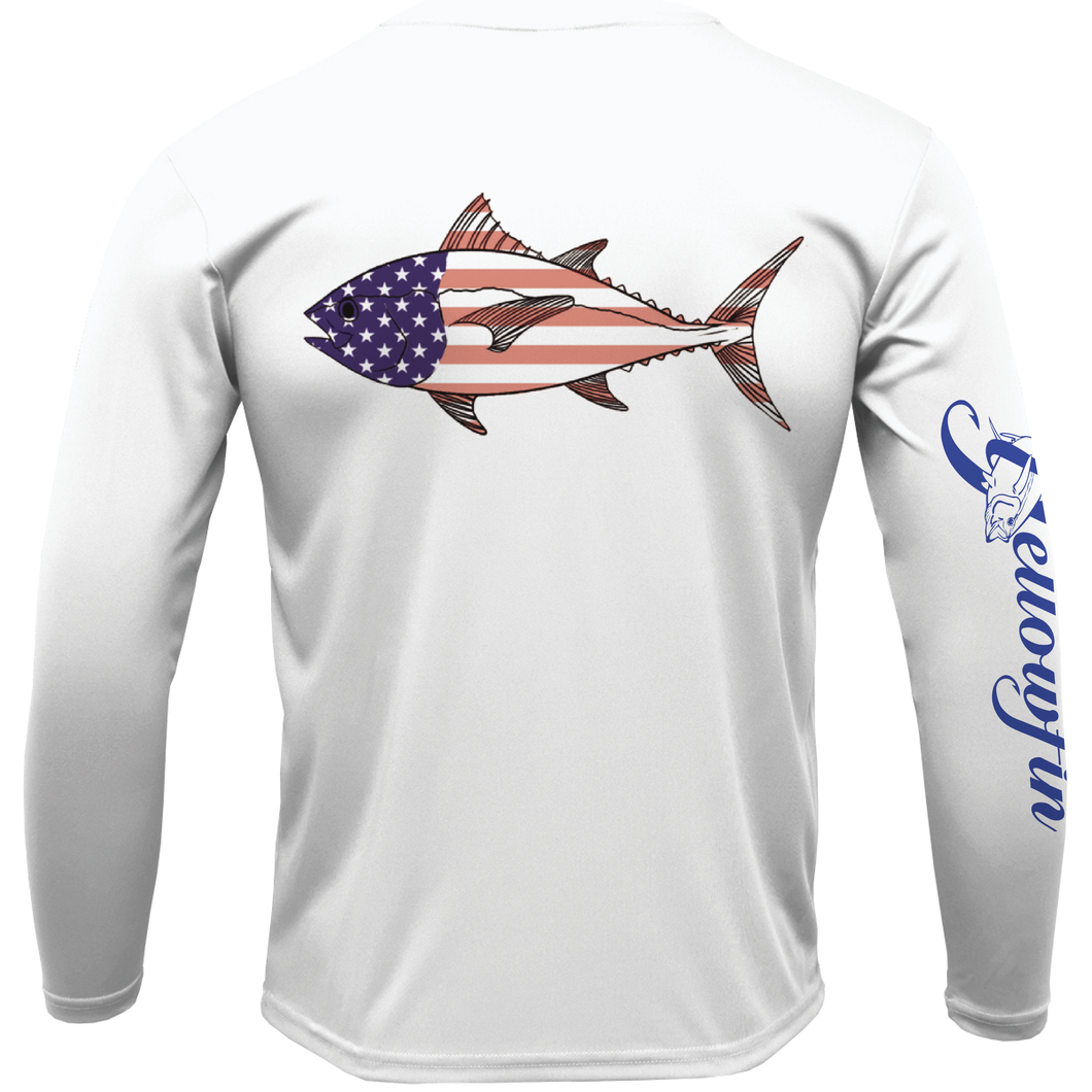 Youth Tuna Flag Performance Long Sleeve Shirt