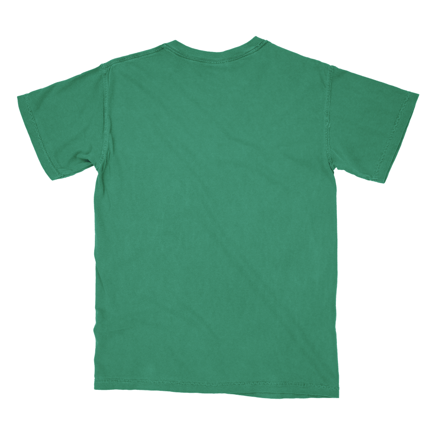 XL Pepper Comfort Colors Pocket Tee w Neon Green Phish Patch 100/% Cotton