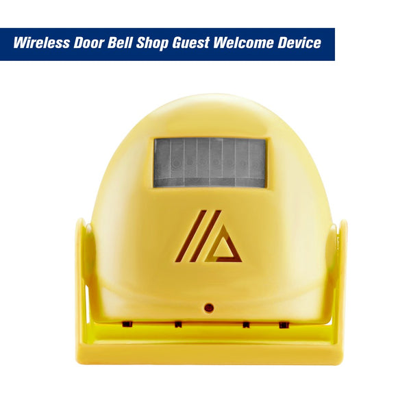 Wireless Door Bell Shop Guest Welcome Device Infrared Motion Sensor Home Anti-theft Alarm,Yellow