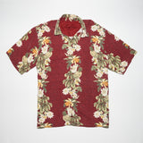 Vintage Tommy Bahama Pali style Hand print four color floral Aloha Shirt