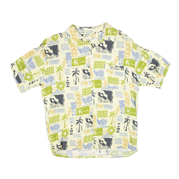 Linea Dome Colorful Aloha Shirt L size