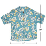 Banana Cabana Vintage XL Beautiful Print of flowers Aloha Shirt
