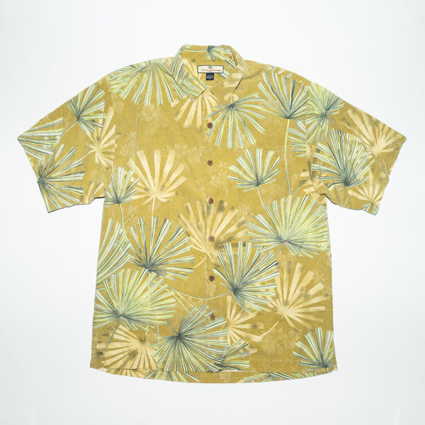 Vintage Tommy Bahama Palm branches Yellow Shirt