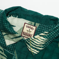Vintage Tommy Bahama Green Foilage Coconut Button Aloha Shirt