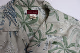 Hunt Club Vintage Tropical leaves Print Aloha Shirt