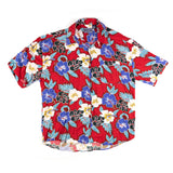 Imperial Vintage Bright red Aloha Shirt L size