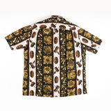 Vintage Ui-maiki Tapa Tiki Aloha Shirt Made in Hawaii L size