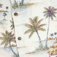 1990s Vintage Batik bay Aloha Palm trees Shirt XL size