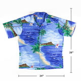 Vintage Shoreline Made in Hawaii shirt Boat print L size