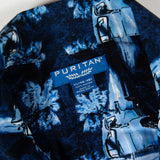 Puritan Blue Ocean XL size Aloha Shirt