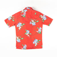 Vintage Hilo Hatties Orchid Print Shirt Made in Hawaii L size