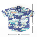 Vintage Beautiful Car print Aloha Shirt XL size