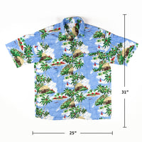 Beautiful Beach Palm tress Print Shirt L size Made in Hawaii