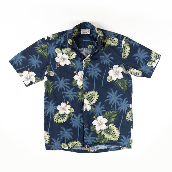 Vintage Flower Print Shirt made in hawaii L size