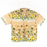 Palm Tress with Hibiscus Print Shirt M size