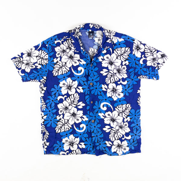 Vintage Hibiscus Collection Shirt L Sz Made in Hawaii