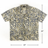 Vintage Royal creations Traditional Tapa Tiki Shirt XL Sz Made in Hawaii