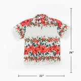 Vintage Made in Hawaii Border floral Print Shirt M Sz