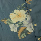 Vintage 100% Silk Hawaiian Shirt M Sz