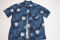 Puritan Vintage Blue Foliage Aloha Shirt