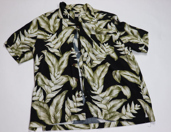 Caribbean Joe Vintage Tropical Aloha Button down Shirt