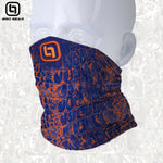 BGO Orange & Blue Camo Face and Neck Shield