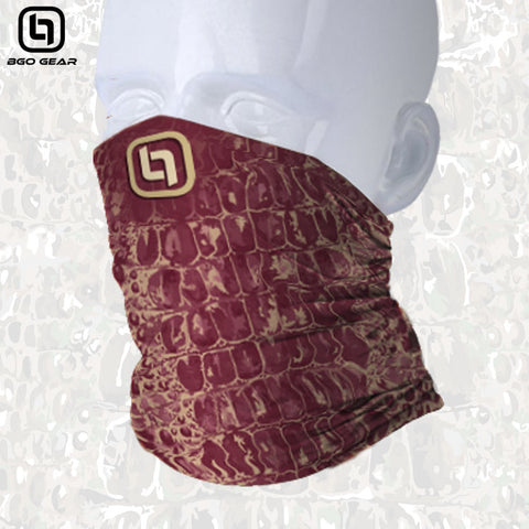 BGO Garnet & Gold Camo Face and Neck Shield