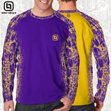 Purple & Yellow Camo Activewear